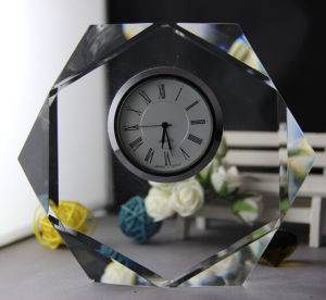 Crystal Decorative K9 Crystal Clock Craft (KS06039) pictures & photos