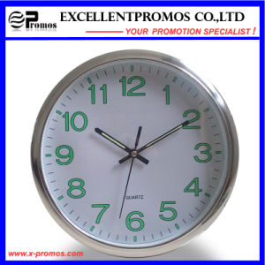 Luminous 12inch Logo Printing Round Plastic Wall Clock (EP-Item12) pictures & photos