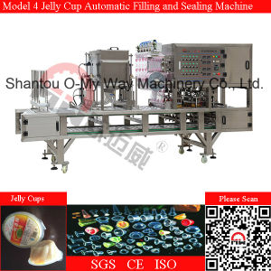 Pudding Cup Automatic Filling and Sealing Machine pictures & photos