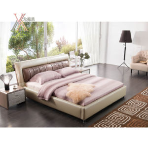 Leather Bed for Home (2091)