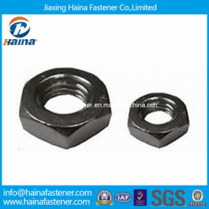 Stainless Steel 18-8 Hex Thin Nuts DIN936 ISO4035 pictures & photos