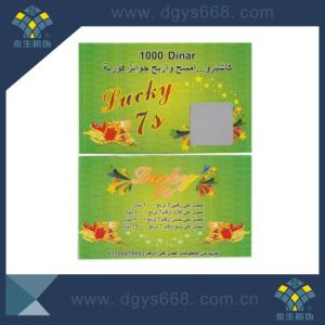 Security Lottery Cards Customized Design with Scratch off Layer pictures & photos