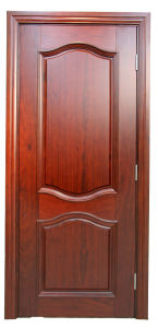 Exterior /Interior Door Wooden Door Double Sashed Door Designs with Nature Veneer Safety Door pictures & photos