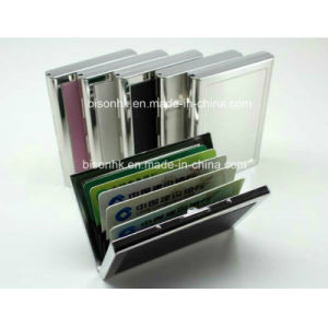 Top Grain Metal Wallets for Cards, ID Card Wallets pictures & photos