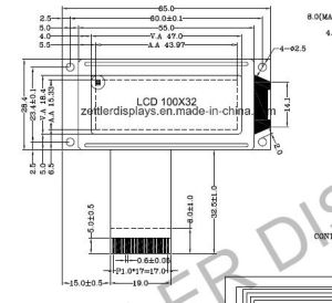 Graphic LCD Module with 100X32 Dots: AGM1032A Series pictures & photos