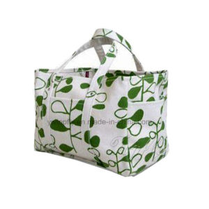 Printed Pattern Reusable Canvas Tote Bag pictures & photos