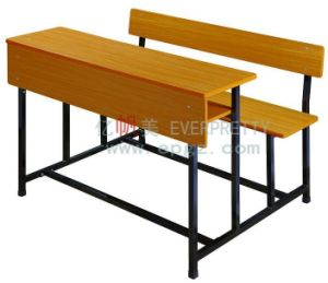 Cheap Student Desk and Chair/Standard Size of School Desk Chair Dounle Seat (SF-07D2) pictures & photos