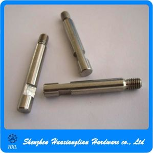 CNC Turning Machining Turned Part Carbon Steel Round Shafts pictures & photos