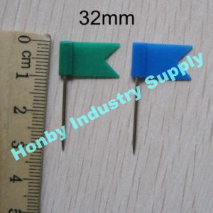 High Quality Plastic Colorful Head Flat Flag Map Push Pins as Office Supplies pictures & photos
