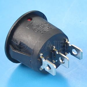 3pin on-off-on Round Rocker Switch pictures & photos