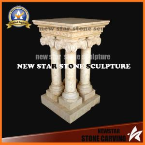 Matte-Finished Design Beige Four Pillars with One Base/Capital pictures & photos