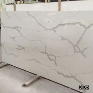 High Glossy Artificial Stone Pure White Quartz Stone pictures & photos