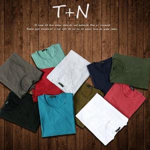Custom Mens T-Shirt Promotional Plain Cotton T-Shirt pictures & photos