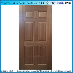 Natural Sapeli Veneer Moulded 6 Panel Door Skin Plywood pictures & photos