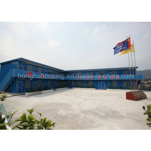 Beautiful Prefab Temporary EPS Sandwich Panel Prefabricated Plat Roof House pictures & photos