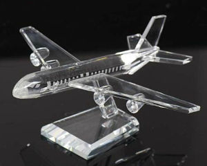 Business Decoration Gifts K9 Crystal Plane Model pictures & photos