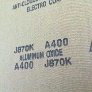 Calcined Aluminum Oxide Abrasive Cloth J870k 400# pictures & photos
