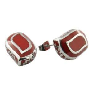 Christmas Gift Red Enamel Stud Earrings Custom Earring pictures & photos
