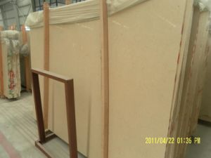 Beige Marble Slab for Countertops and Building Materials