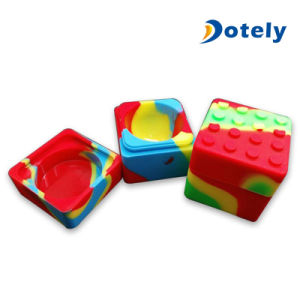 Square FDA Safe Rubber Silicone Jars DAB Wax Container pictures & photos
