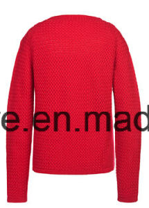 Lady Weaving Patterns Long Sleeves Pure Cashmere Knitwear pictures & photos