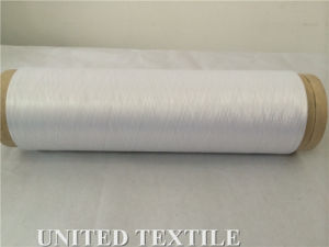 100% Polyester Yarn (with 75D/36F SD Bleach White NIM) for Weaving pictures & photos