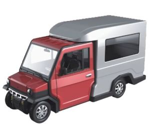 72V Electric Mini Truck with Full Enclosed Cargo (Revolution Cargo 1500) pictures & photos