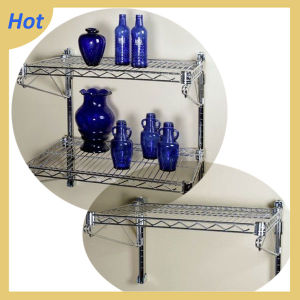 Galvanize Warehouse Stainless Steel Wall Mounted Wire Shelving pictures & photos
