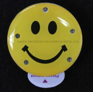Smile LED Light Flashing Name Badge with Logo Printed (3161) pictures & photos
