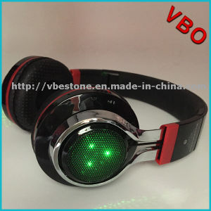 High Quality Portable Wireless Bluetooth Headphone Headset with LED Light pictures & photos