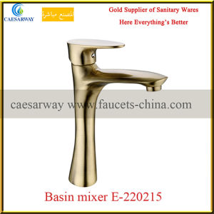 Bathroom Golden Deck Mounted Wash Basin Faucet pictures & photos