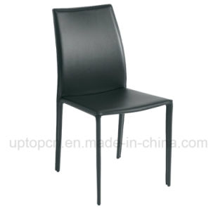 Stacking High Quality Green Leather Cafe Restaurant Chair (SP-LC228) pictures & photos