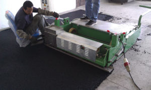 Small Paver Machine for Sports Athletic Running Track pictures & photos
