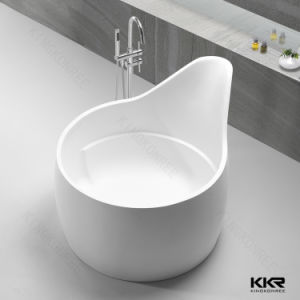 2017 New Design White Solid Surface Freestanding Bathtub pictures & photos