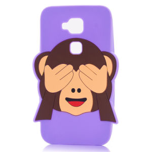 Cover Eyes Monkey Silicone Phone Case for Samsung S4 S5 S6 S7edge (XSDW-009) pictures & photos