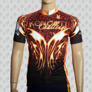 Sublimation Printing Coolmax Short Sleeve Cycling Jersey / Cycling Wear