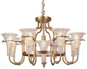 Iron Chandelier Lighting, Metal Body, Glass Fabric, 6 Lights (SL2238-6+1) pictures & photos