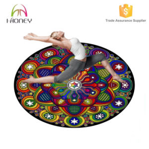 140cm Diameter Round Yoga Mat Special for Meditation Cushions 5mm Thickness pictures & photos