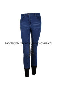 Denim Riding Silicone Breeches Knee Grip (B68) pictures & photos