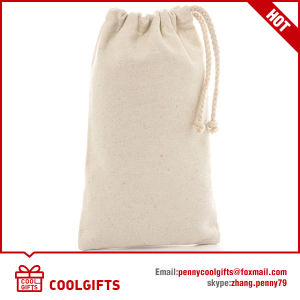 Recycle Small Cotton Drawstring Tote Bag for Gift pictures & photos