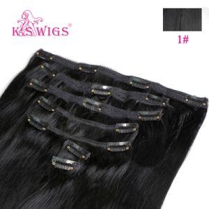 Brazilian Remy Hair Virgin Human Hair Clip in Hair Extension pictures & photos
