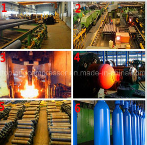 Oxygen Nitrogen Argon Seamless Steel Gas Cylinder pictures & photos