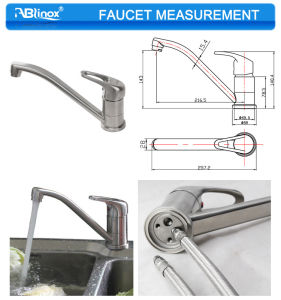 Simple Style SUS Kitchen Faucet Price (AB101C) pictures & photos