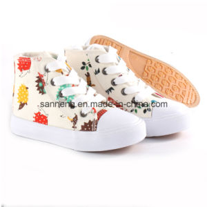 Children Canvas Shoes with Cute Printing (SNC-24216) pictures & photos