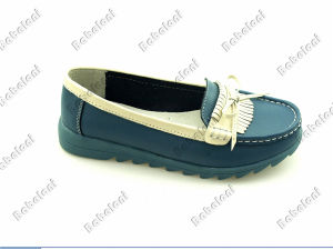 2016 Most Popular Soft Leather Loafer Shoes for Women Ls06