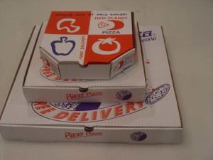 3 Sizes Colorful Printing Corrugated Paper Cardbaord Pizza Boxes pictures & photos