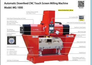 Automatic Downfeed CNC Touch Screen Milling Machine pictures & photos