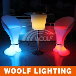LED Furniture Supplier in China Plastic Bar Chair Stool pictures & photos