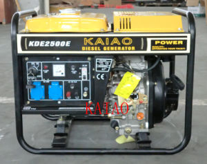 2kw Diesel Genset Kaiao Electric Genset Small Home Use Generator 2500e