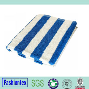 100% Cotton Pool Towel Beach Towels Cabana Stripe- Blue pictures & photos